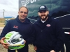 Bell presents Donny with commemorative 10X helmet