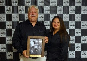 Congrats Ron Shaver, pictured with his wife Livian, on your induction into the National Sprint Car Hall of Fame.