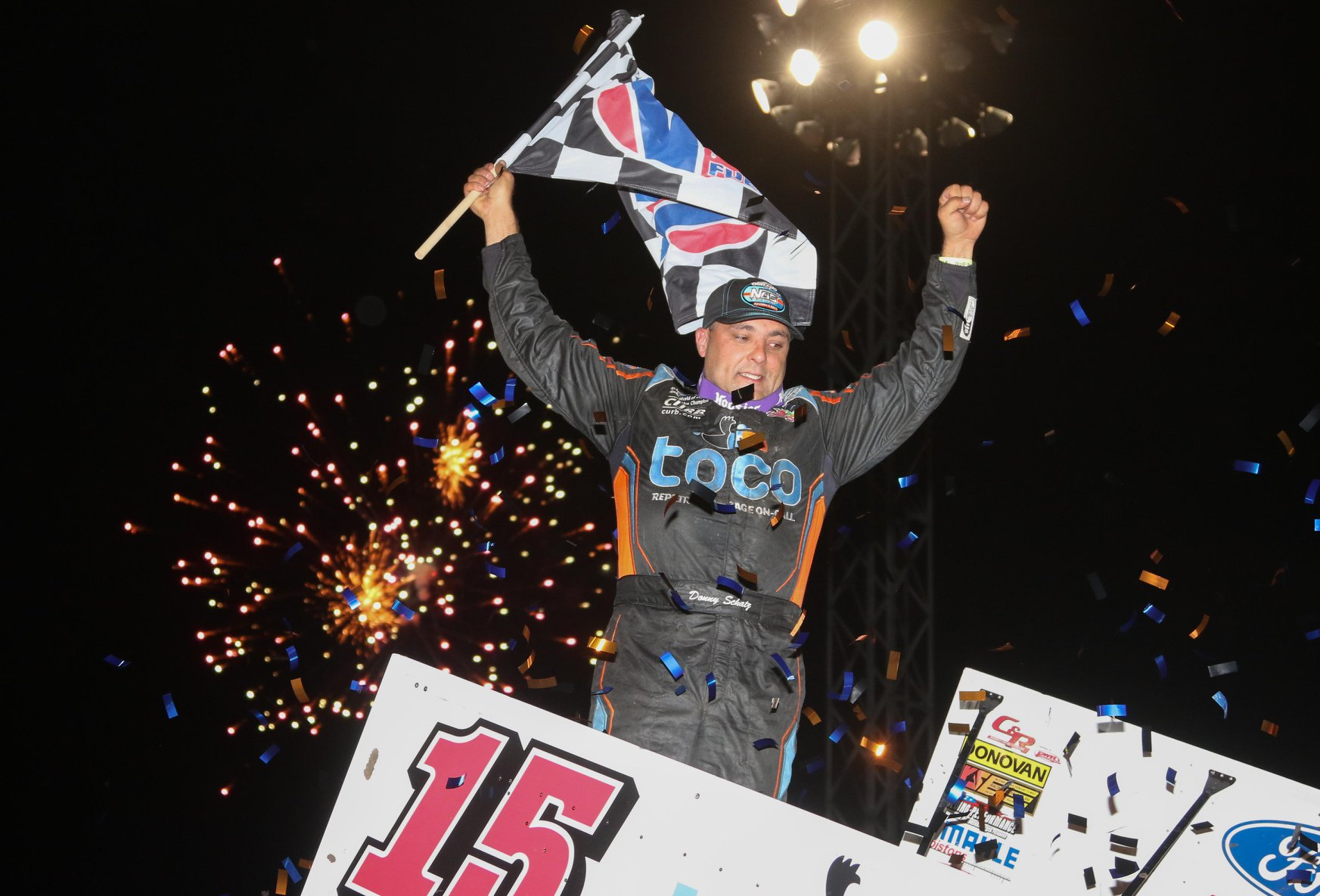 Schatz Storms to 12th Career Outlaws Win at River Cities Speedway