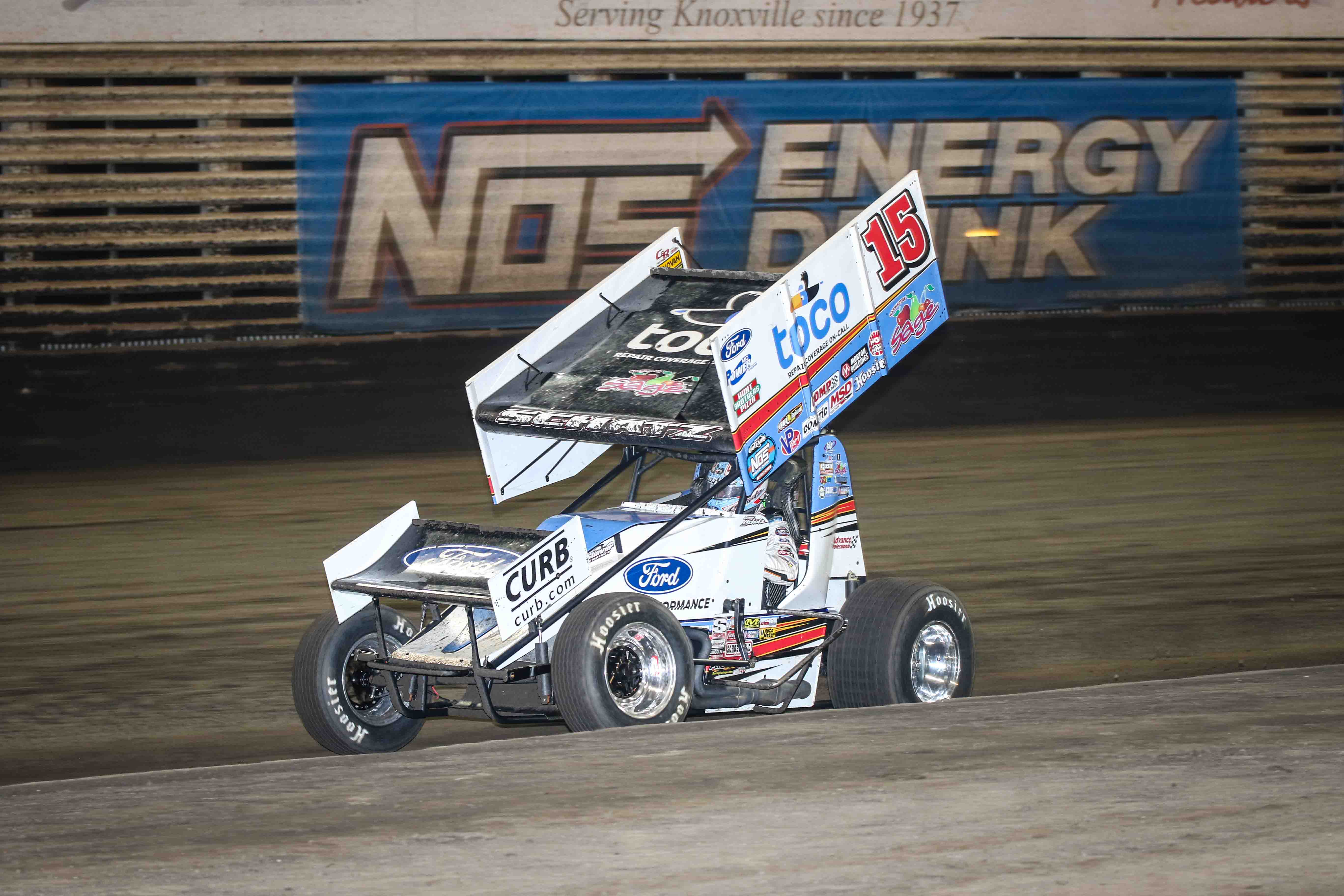 Schatz Rallies For Top 10 at 59th Knoxville Nationals